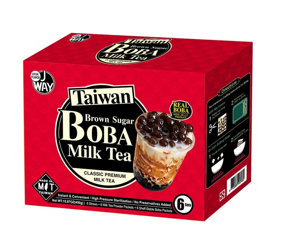 J WAY Instant Boba Max 61% OFF Bubble Pearl Tea Authentic Milk Brow Washington Mall Kit with