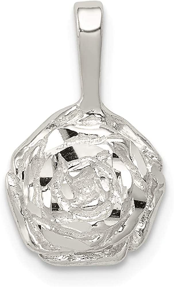FB Jewels Solid 925 Max 41% OFF Sterling Silver x Inch Rose 0.39 Cheap SALE Start Charm 0.67