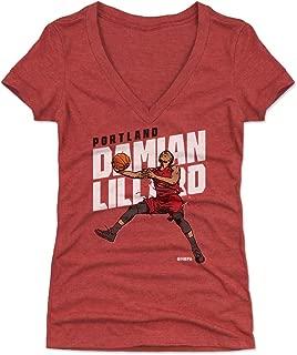 500 LEVEL Damian Lillard Women's Shirt - Portland Basketball Shirt for Women - Damian Lillard Layup