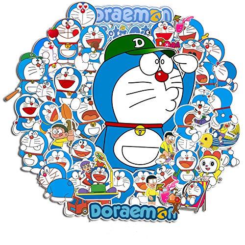 WUWEI Un sueño Ding Gato Pegatina para Equipaje Maleta Impermeable Dibujos Animados Azul Gordo Lindo niños Pegatinas Decorativas