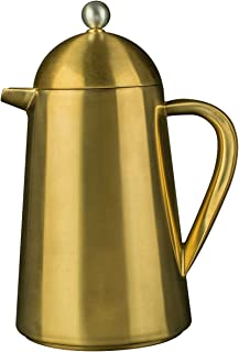 La Cafetière Thermique Insulated 3-Cup Cafetière French Press Coffee Maker, Brushed Gold - 350ml (½ Pint)