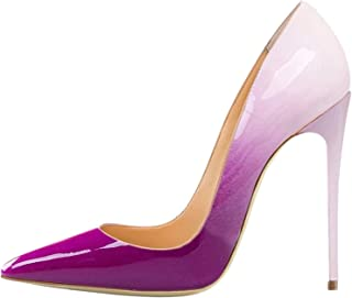 3974d1264e4b9 Lovirs Womens Pointed Toe High Heel Slip On Stiletto Pumps Wedding Party  Basic Shoes