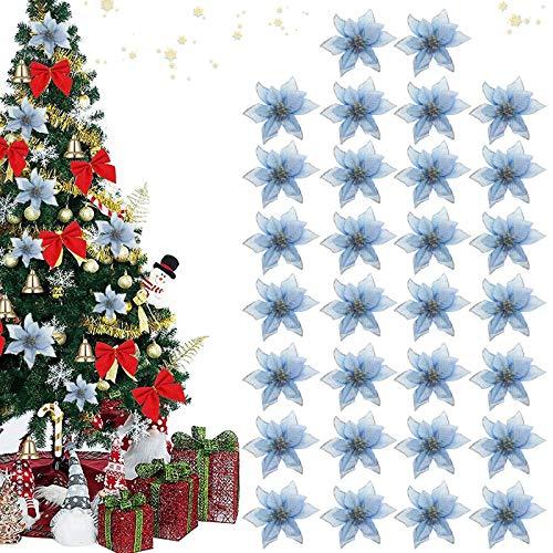 Flores De Navidad Para Decorar Azul flores de navidad para decorar  Marca TaimeiMao
