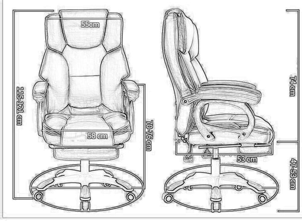 Tabouret chaise Fauteuil De Bureau Pivotant Avec Dossier Haut (Color : B) C