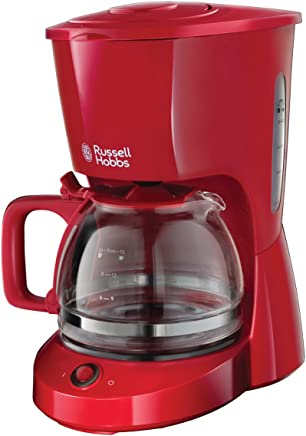 Russell Hobbs 纹理 玻璃咖啡机 淋浴头 红色 10 Tassen 22611-56