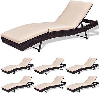 Amazon.com: Hulaloveshop - Lote de 2 sillas de patio con ...