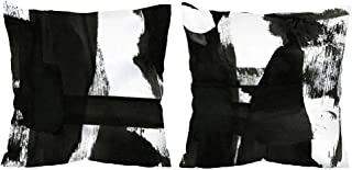 Vineland Throw Pillow Covers Set Black and White Abstract Farmhouse Cushion Case 18 x 18 Inch Square Decorative Pillowcase...