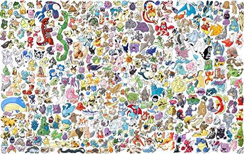 LZQZJD® Puzzle adulte 1500 pièces de puzzles Pokemon et jouets éducatifs stimulants de soulagement du stress pour adultes et enfants