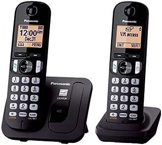 Teléfono Inalámbrico Panasonic KX-TGC212MEB Dos Auriculares Altavoz Bloqueo Llamadas-Negro
