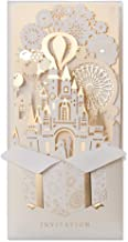 JOFANZA 20 Pieces Laser Cut Wedding Invitations Cards 3D Fairy Gold Gilding Bride and Groom in Castle Invitation for Engagement Bridal Shower Anniversary Marriage Mr Mrs Invites (Set of 20pcs)