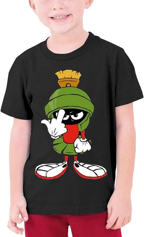 Mar-vin The Ma-rtian Pla-net Youth T-Shirt Cotton Short Sleeve Tops Tee for Teens Boys Girls 6-16 Years Black
