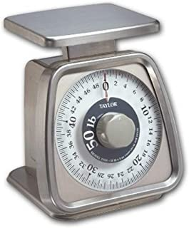 Taylor Precision Products Stainless Steel Analog Portion Control Scale (50-Pound)