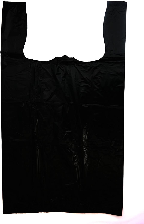 "WHITE BLUE BLACK PLASTIC CARRIER BAGS 11x17x21/"" 18MU SHOP MARKET STALL LARGE XL"