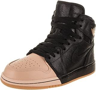 Jordan Nike Women's 1 Retro Hi Premium Basketball Shoe 5 Black
