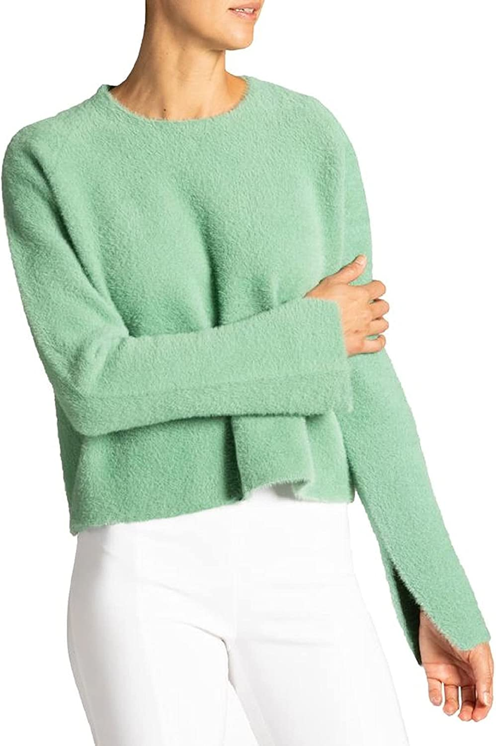 Twinset Milano Women's Crewneck Knitted Fl Directly managed store Faux Woven 55% OFF Sweater in