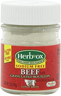 Herb-Ox Sodium-Free Beef Flavored Granulated Boullion, 3.3 Ounce (Pack of 12)