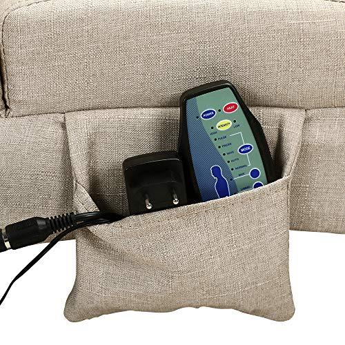 Casaria Relaxliege Liegesessel London mit Heiz- & Massagefunktion Stoff Sand Ergonomisch Wohnzimmer Relaxsessel Liegesessel