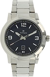 Men's 'Neo' Fashion/Casual/Business/Luxury Mineral Quartz Dial -Leather/Brass and Silver Toned Strap