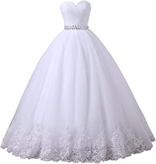Wedding Dress Sweetheart Tulle Wedding Dresses for Bridal Plus Size Ball Gowns