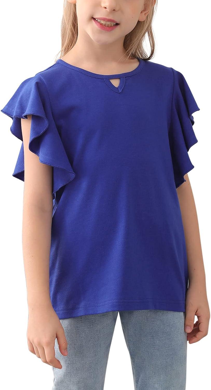 New Free Shipping GORLYA Girl's Superlatite Tunic Butterfly Sleeve Tops Casual T-Shirt Solid B