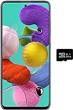 """$336 » Samsung Galaxy A51 (128GB, 4GB) 6.5"""", 48MP Quad Camera, Dual SIM GSM Unlocked A515F/DS- Global 4G LTE International Model (Black, 64GB SD + Case Bundle)"""
