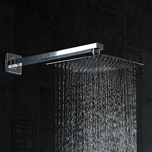 16'Rainfall Shower Head,YAWALL Ultra-thin Stainless Steel & High Polish Chrome,Luxury Durable Rain...