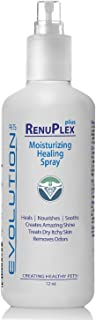 RenuPlex PLUS Silk Protein Healing Spray for Dogs. For Itchy Dog Problems, Dog Hot Spots, and Dry Skin. Chemical-Free, Proven Safe and Effective