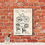 Nacnic Poster Patent Fahrrad. Blatt für die Gestaltung.