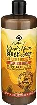 Alaffia African Black Soap - Body Wash, Shampoo, and Shaving Soap - Tangerine Citrus, 32 Fl Oz