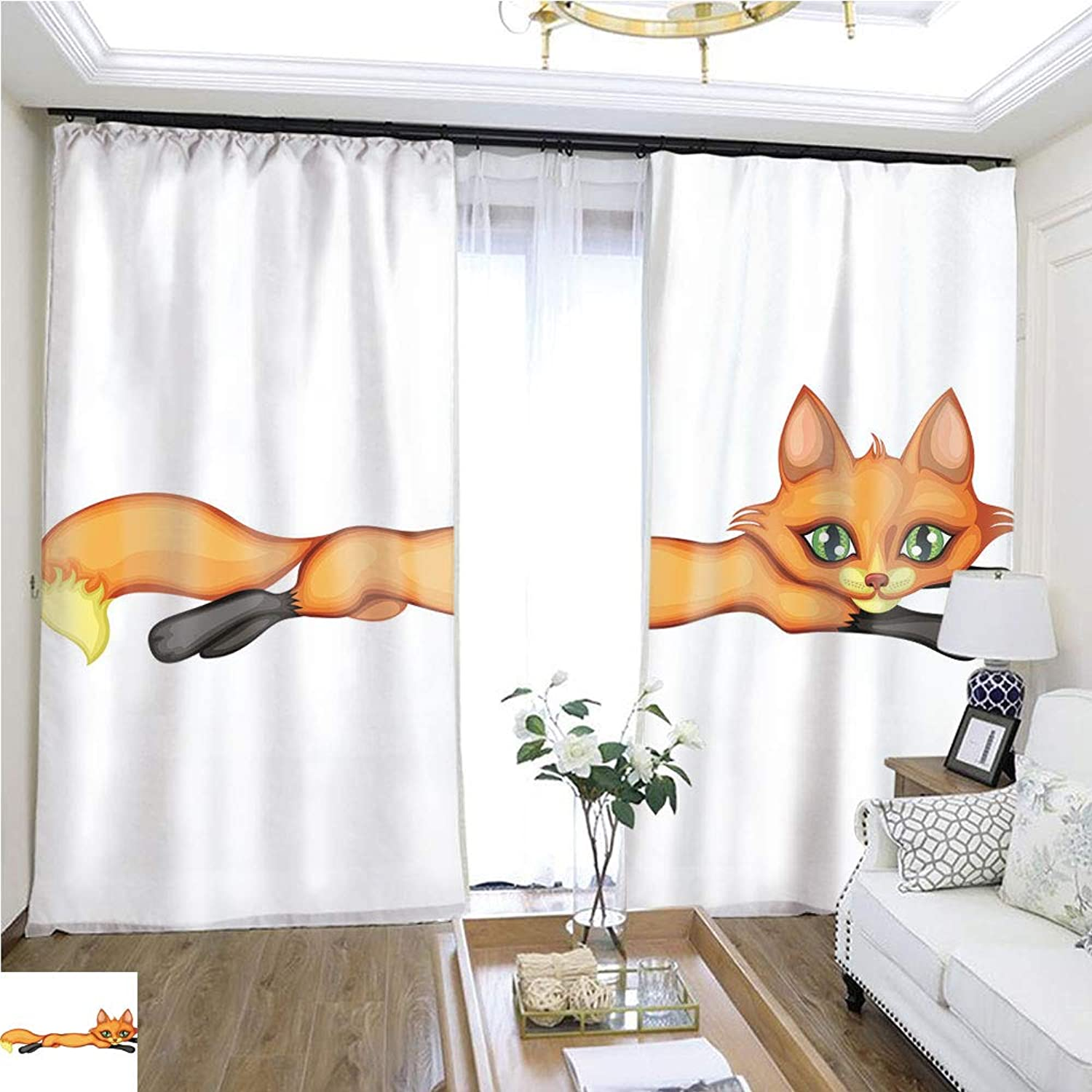 Air Port Screen Fox is Resting W96 x L144 Eliminate The Turf Highprecision Curtains for bedrooms Living Rooms Kitchens etc.