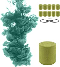Colorful Smoke Cake Pills, Vuffuw 10 PCS Studio Round Photography Props, Film Stage Magic Tricks Show Party Smoke Effect, Film Television Tobacco Cigarettes Maker (Green)