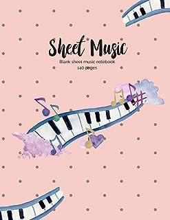 "Blank Sheet Music Writing Notebook: 8.5"" x 11"" 140 pages of Music Manuscript Paper, Music Journal, Staff Paper, Musicians ..."