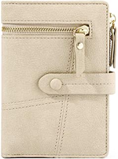 VOCUS Small Wallets for Women Bifold Short Wallet Zipper Credit Card Holder with ID Window