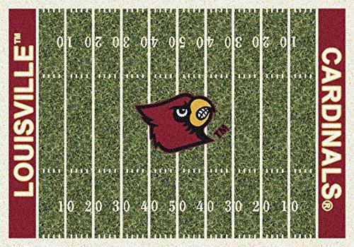 Louisville College Home Football Field Rug: covid 19 (Louisville Football Rug coronavirus)
