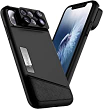 AINOPE iPhone X Lens, 4K HD [0.65X] Wide Angle, 15X Macro, 180° Fisheye Camera Lenses Kit 3-in-1, Portable iPhone Xs Lens Kit for Apple iPhone 10/Xs ONLY, Easy to Switch Effect Lenses (Black)