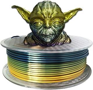 Silk Rainbow Multicolor PLA 3D Printer Filamentt 3mm(2.85mm) 1KG Multi Color Printing Material Gradually Canging Color PLA...