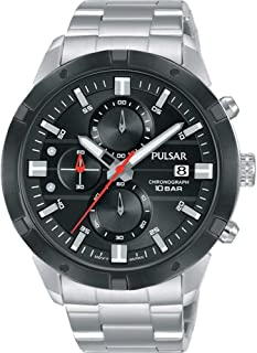 Pulsar Active Mens Analog Quartz Watch with Stainless Steel Bracelet PM3171X1
