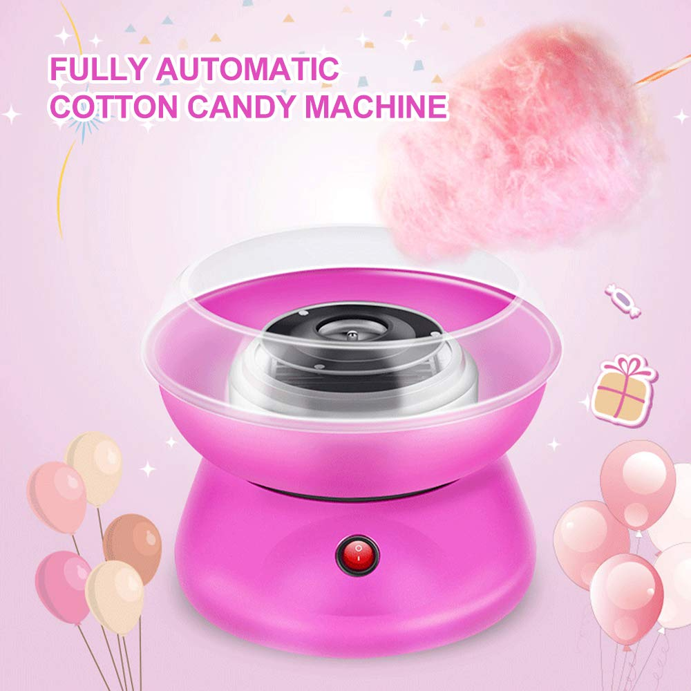 WANGLAI Cotton Candy Maker, Vintage Hard & Sugar-Cotton Cotton Maker Máquina de algodón de azúcar Party Candy Floss ...