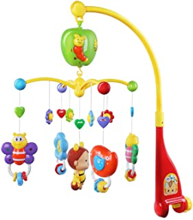 Best GrowthPic Musical Mobile Baby Crib Mobile with Hanging Rotating Toys and Music Box, Red Review