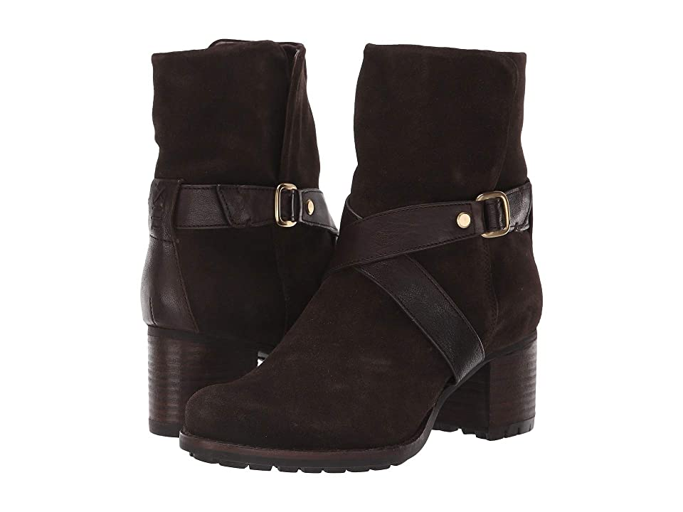 Trask Misty (Dark Brown Oiled Italian Suede/Sheepskin) Women