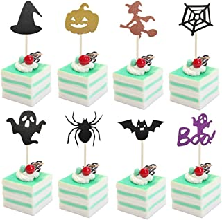 Coxeer 32PCS Cupcake Topper Decorative Party Cake Decoration Supplies for Halloween