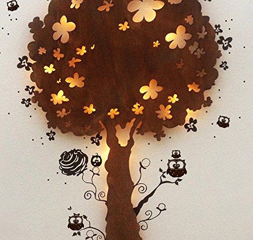 ilka parey wandtattoo-welt Lampe Murale Enfant Lampe Lampe Snooze Arbre Lampe Chouette Hibou M932