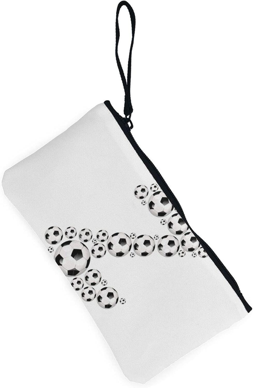 AORRUAM Football Z Canvas Coin Purse,Canvas Zipper Pencil Cases,Canvas Change Purse Pouch Mini Wallet Coin Bag