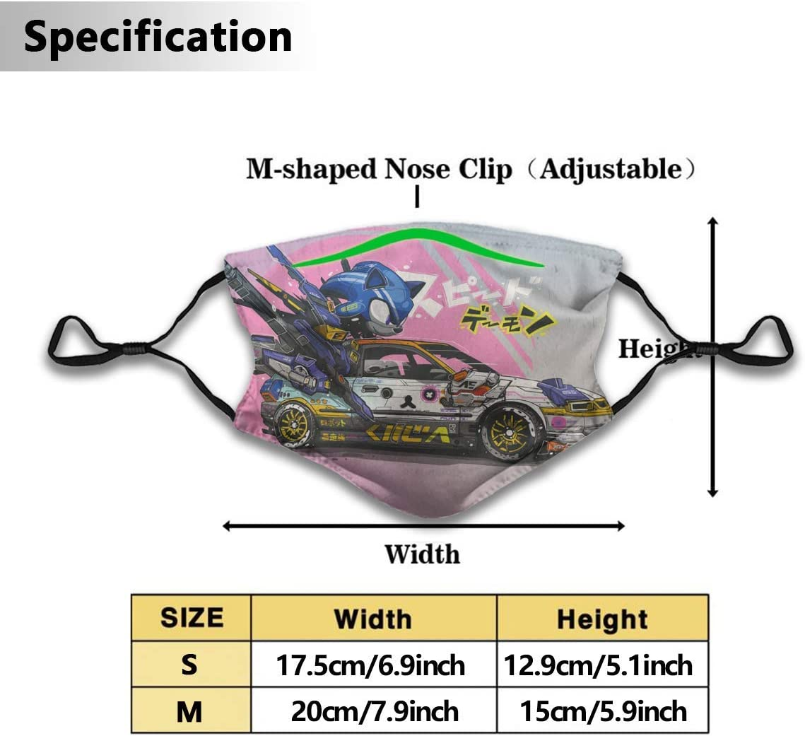 WXDGLL Anime Blue So-nic Face Mouth Scarf Adjustable Washable Face Cover Breathable Dust Cloth Fabric for Men Running