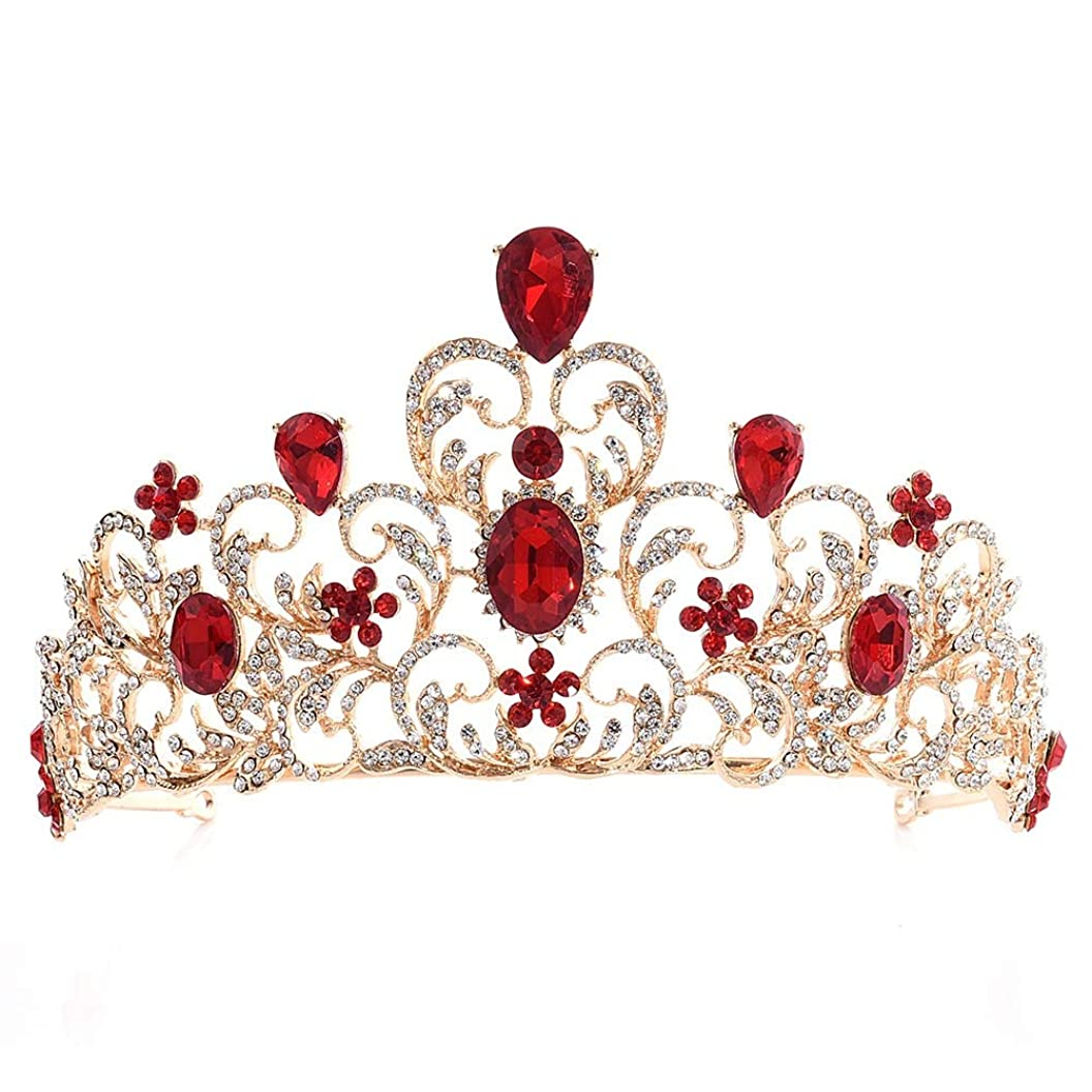 ライター申し立てる組み立てる葉のラインストーンの王冠の普及した合金のヘッドバンドの結婚披露宴の付属品