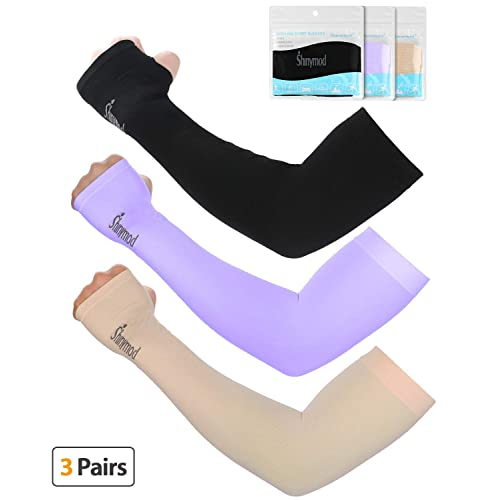 2e541a2b4e SHINYMOD UV Protection Cooling Arm Sleeves Men Women Sunblock Cooler  Protective Sports Running Golf Cycling Basketball