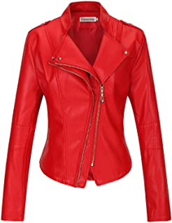 b5ef54933e0dc5 Amazon.com: Reds - Leather & Faux Leather / Coats, Jackets & Vests ...