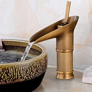 ZGYQGOO Robinets pour lavabo Salle de Bain Rétro Vintage Robinet à Levier Unique Lavabo Mélangeur évier Cuisine Robinets d...