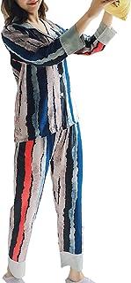 XINGWU パジャマ レディース 襟を打つ 長袖 前開き ルームウェア 春 秋 上下セット 部屋着