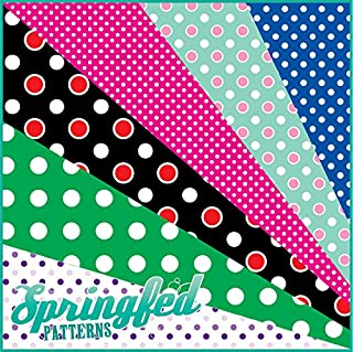 GRAB BAG of Mixed POLKA DOTS PATTERN Craft Vinyl! 8 6x6 Pieces Perfect for Vinyl Cutters